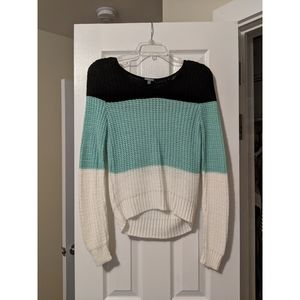 | color block sweater |